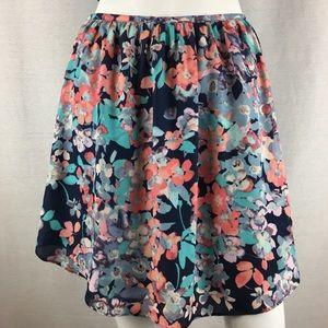 Lauren Conrad Floral Skirt